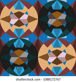 Marrakesh medallion arabic bright seamless pattern. Traditional geometric ethnic style. Eastern beautiful design