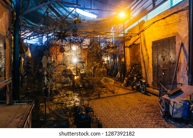 Marrakesh, Morocco - January 13, 2019: Marrakesh medina (Marrakech medina)