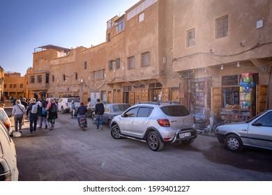 Marrakesh, Morocco - Nov 17, 2019: Medina market area