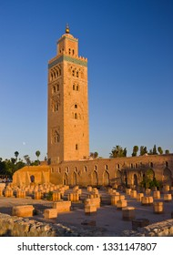 MARRAKESH, MOROCCO - OCTOBER 2, 2009: Koutoubia Mosque, and its moorish minaret, built in 12th century.