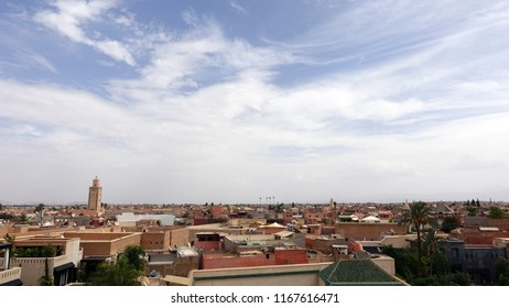 Marrakesh rooftops and sky