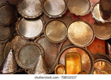 Marrakesh souk metal handy craft plates and for sale