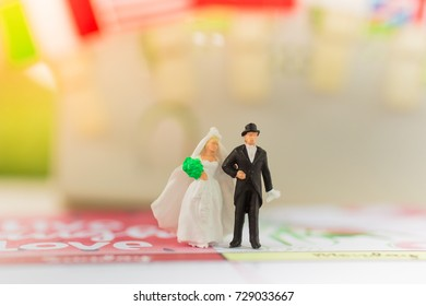 Marriage between couples using as Love's day concept