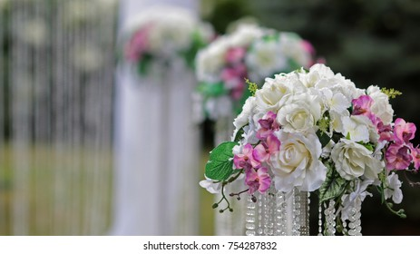 marriage ceremony in the light of sunlight wedding decorations