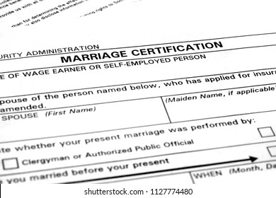 Marriage License Images, Stock Photos & Vectors | Shutterstock