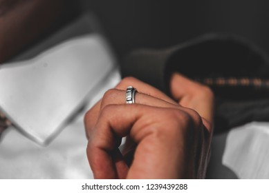married businessman, close up on the wedding ring