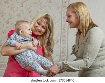 Married and unwed women with child.