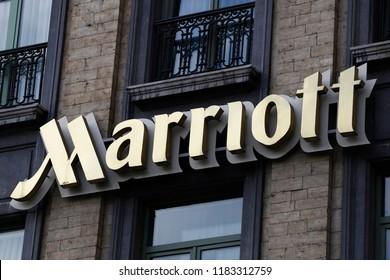 Marriott hotel in Brussels, Belgium on Sept. 14, 2018.