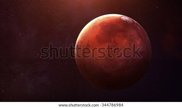 Mars - High resolution best quality solar system planet.  This image elements furnished by NASA.
