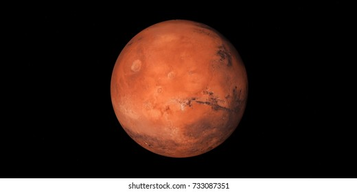 Mars illustrarion.Elements of this image are furnished by NASA.