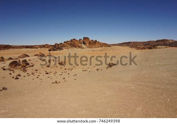 Mars landscape with blue sky