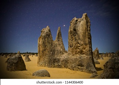 Mars over The Pinnacles, Western Australia