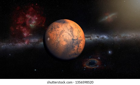 Mars Planet , Elements of this image furnished by NASA