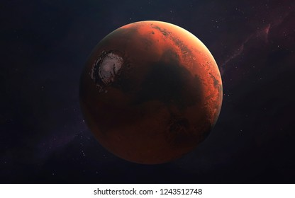 Mars, Planet of the Solar system. InSight mission. Elements of this image furnished by NASA