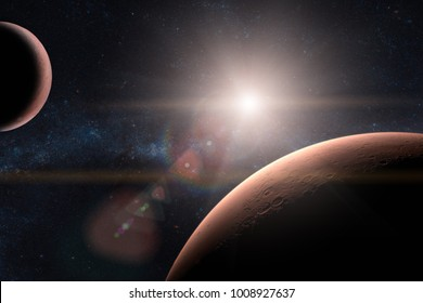 Mars. Planets in solar system. Elements of this image furnished by NASA.
