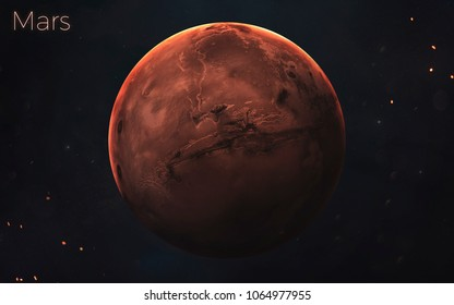 Mars. Realistic planets of Solar system. Elements of this image furnished by NASA