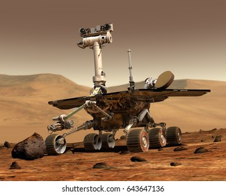 Mars Rover Space Travel Robot Martian Surface | Elements of this image furnished by NASA