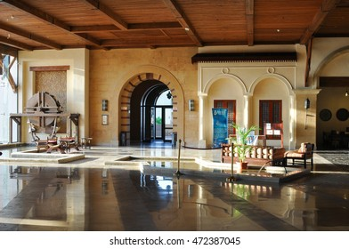 Marsa ALAM,EGYPT - JULY 26,2014:Hall of marble,designed in the Arabic style of the hotel