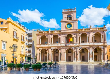 MARSALA, ITALY, APRIL 21, 2017: View of the Palazzo XII Aprile in Marsala, Sicily, Italy