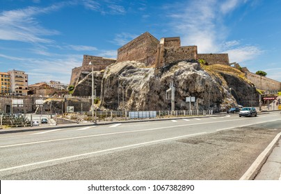 Marseille, France - 05 July, 2014: Fort Saint Nicholas is located at the entrance to the Old Port of Marseille.