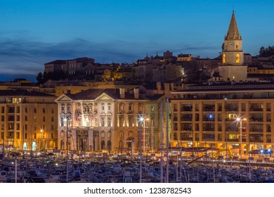 Marseille. France. 06.14.12. The city of Marseille at dusk.  The Cote d'Azur region of the South of France.