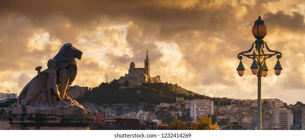 MARSEILLE, FRANCE - 10 Nov 2018: -  Panoramic view on Marseille, France