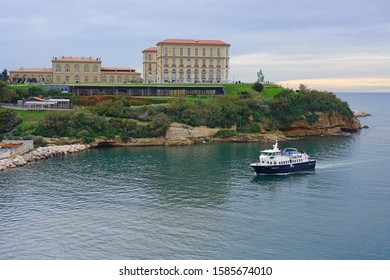 MARSEILLE, FRANCE -15 NOV 2019- View of the landmark Palais du Pharo, a historic Second Empire palace built for Napoleon III located on a clifftop above the Vieux Port in Marseille, France.