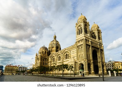 Marseille, France - 2019.Marseille cathedral, Cathedrale Sainte-Marie-Majeure de Marseille.