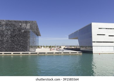 MARSEILLE, FRANCE - AUGUST 12, 2014: The MuCEM (Museum of European and Mediterranean Civilisations) on August 12, 2014 in Marseille