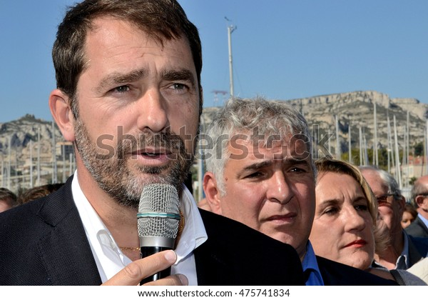 Marseille, France - August 30, 2016 : Christophe Castaner is a deputy of Alpes-de-Haute-Provence and mayor of Forcalquier