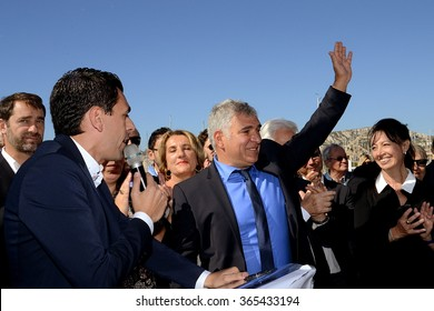 Marseille, France - January 21, 2016 : French socialist representative Christophe Madrolle is pictured during a socialist event, on 10 October, 2015