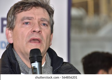 Marseille, France - January 26, 2017 : Former French Minister of Economy Arnaud Montebourg