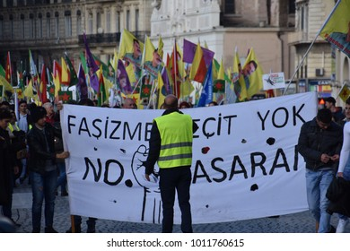 Marseille, France - Januery 27, 2017 : Kurdish demonstration