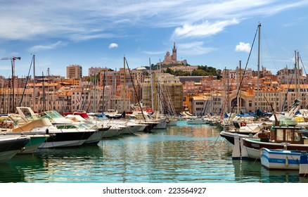 MARSEILLE, FRANCE - JULY 5: Old Port of Marseille on July 5, 2014.