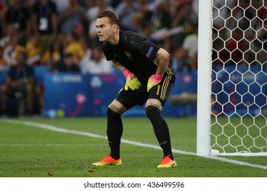 MARSEILLE- FRANCE, JUNE 2016 :Akinfeev in action  during football match  of Euro 2016  in France between England vs Russia at the Stade Velodrome   on June 11, 2016 in Marseille.