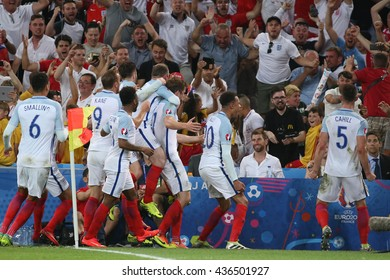 MARSEILLE- FRANCE, JUNE 2016 : Dier score the gol and celebrate during football match  of Euro 2016  in France between England vs Russia at the Stade Velodrome   on June 11, 2016 in Marseille.