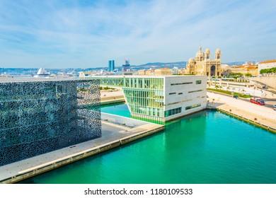 MARSEILLE, FRANCE, JUNE 8, 2017: Mucem Museum of European and Mediterranean Civilisations at Marseille, France