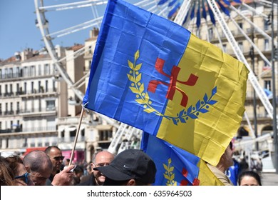 Marseille, France - May 08, 2017 : Commemoration of Berber Spring