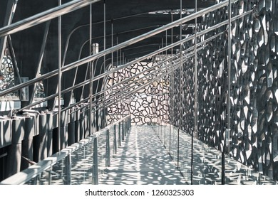 MARSEILLE, FRANCE - May 20, 2018: The architecture of MUCEM.