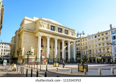 Marseille, France - May 23, 2018: General view of the municipal opera of Marseille, a theater of neoclassical and Art Deco style.