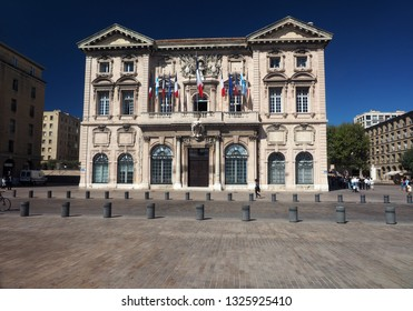 MARSEILLE, FRANCE-SEPTEMBER: The historic L' Hotel de Ville is seen in the downtown port city of Marseille, France, Europe in September 2017.