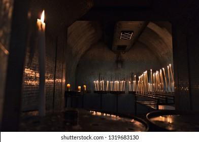 Marseille, Provence / France - January 26 2019: Chapel in Notre-Dame de la Garde Sanctuary