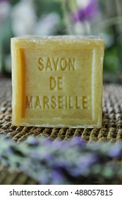 Marseille soap natural Multicolor soaps handmade with organic oil of lavender ond another flowers
