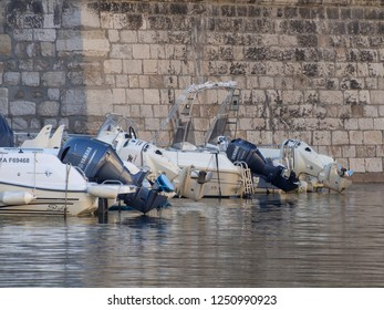 Marseille/France - November 18 2018: Boats at Vallon des Auffes. This is a little traditional fishing haven in Marseille in the 7th arrondissement of Marseille.