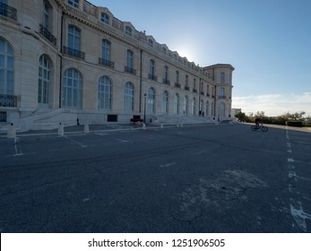 Marseille/France - November 18 2018: Courtyard of Palais du Pharo. The Palais du Pharo is a palace in Marseille, France. It was built in 1858 by Napoleon III for Eugénie de Montijo.