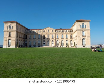 Marseille/France - November 18 2018: Palais du Pharo. The Palais du Pharo is a palace in Marseille, France. It was built in 1858 by Napoleon III for Eugénie de Montijo.