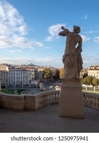 Marseille/France - November 18 2018: View of Marseille from Palais Longchamp. The Palais Longchamp is a monument in the 4th arrondissement of Marseille, France.
