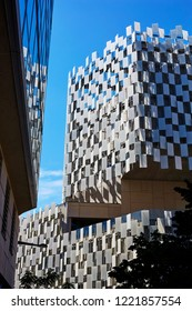 MARSEILLES PROVENCE FRANCE - 7TH JULY 2014; FRAC Contemporary Art centre in Marseille, opened in 2013 by Kengo Kuma and Associates