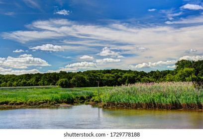 The marsh and the South River at Keystone Park (Chagnon Wildlife Area) in East Brunswick, New Jersey.