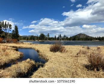 Marsh waters scenic wilderness landscape